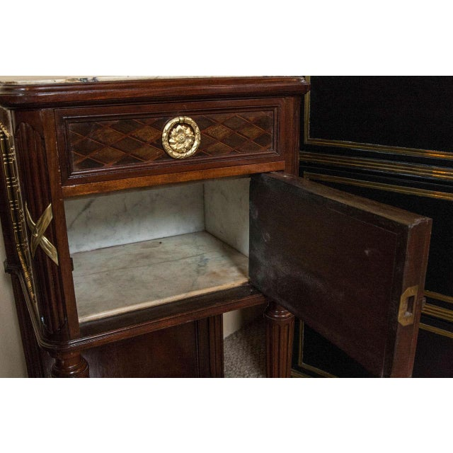 Pair of Louis XVI Style Nigh Tables Possibly by Grohe - Image 10 of 10