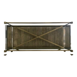 Vanguard Furniture Satin Brass Console Table For Sale