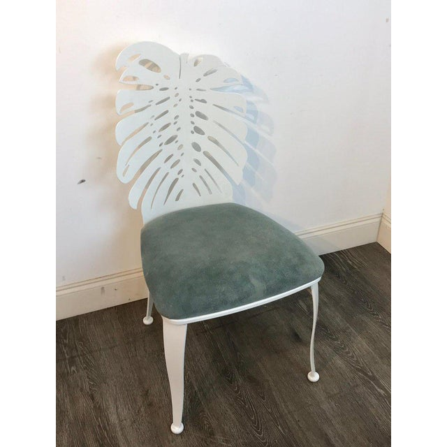Six 1970s Wrought Iron Palmette Chairs, Restored For Sale In West Palm - Image 6 of 10