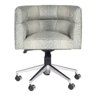 Casa Cosima Perry Desk Chair, Posh Aqua For Sale