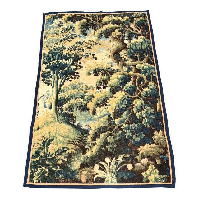 Antique 17th C Flemish Landscape Tapestry For Sale