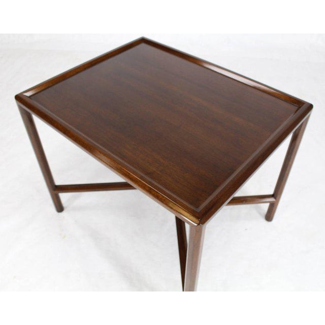 Lacquer Dunbar Walnut Side Table For Sale - Image 7 of 7