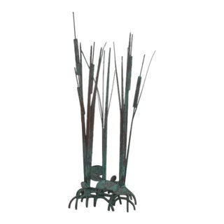 Brutalist Max Howard Kinetic Cattail Sculpture For Sale