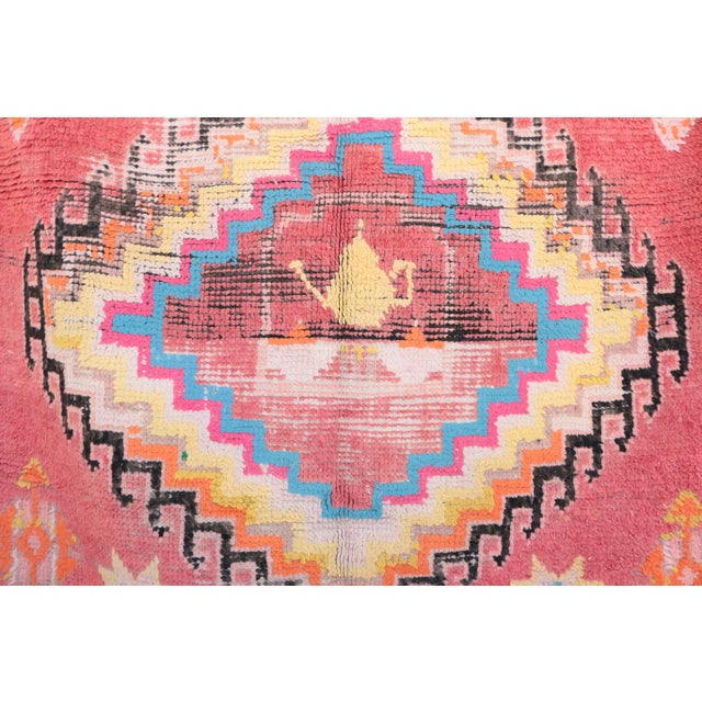 Boujad rugs are hand woven pile rugs from a small region in Haouz between the Middle Atlas and the Atlantic ocean. Handade...