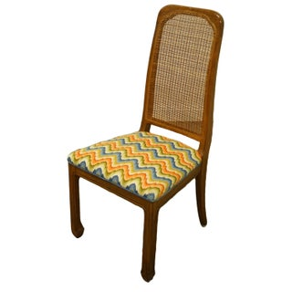 Davis Cabinet Italian Provincial Solid Walnut Cane Back Dining Side Chair Preview