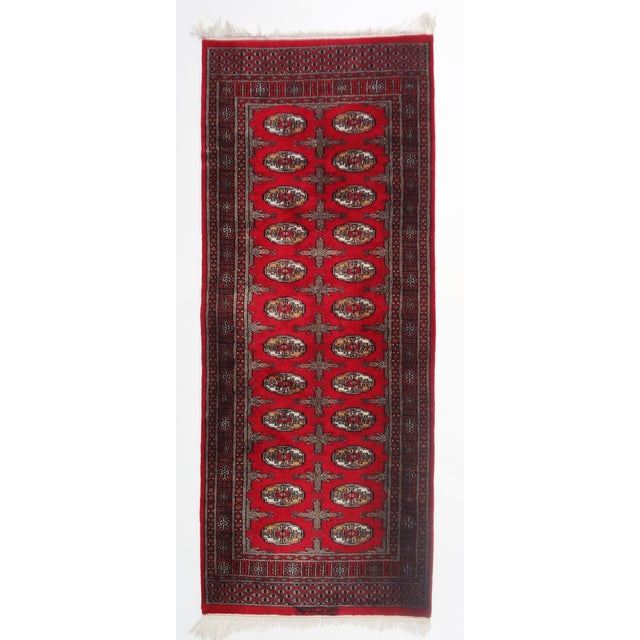 """Hand-Knotted Red Runner Rug - 2'6 x 6'4"""" - Image 2 of 11"""