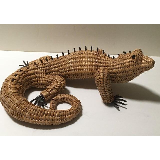 Vintage Mario Lopez Torres Woven Iguana Figurine For Sale - Image 10 of 10