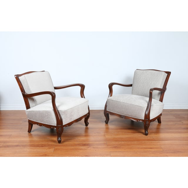 1940's Reupholstered Chair - Pair - Image 2 of 11
