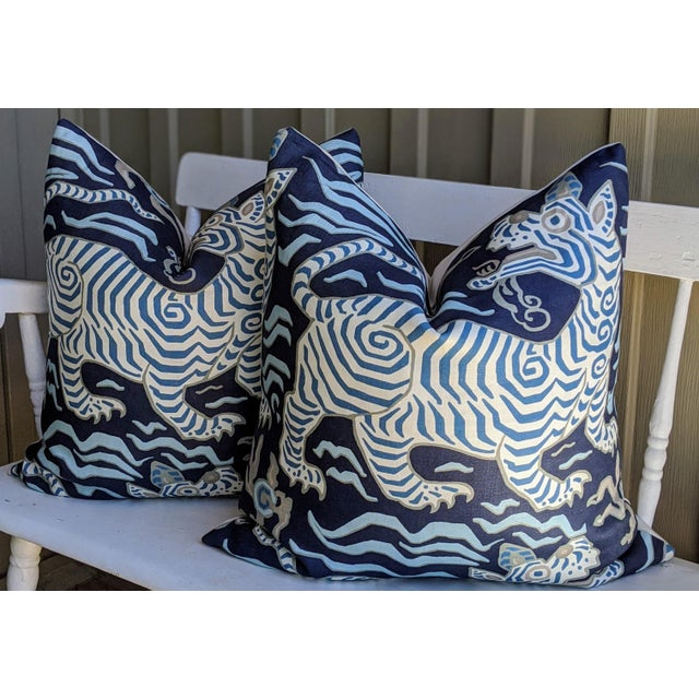 Clarence House Clarence House Tibet Tiger Chinoiserie Pillow Covers - a Pair For Sale - Image 4 of 4