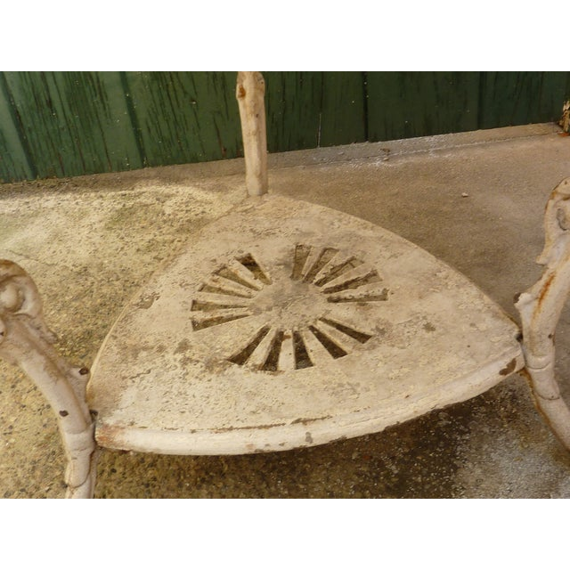 Antique Cast Iron Garden Table For Sale - Image 4 of 6