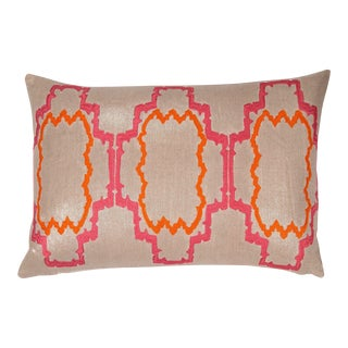 """Piper Collection Paradise Pink """"Lilly"""" Pillow For Sale"""