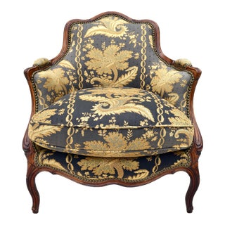 Antique French Bergere Chair For Sale