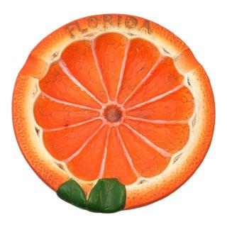 Vintage Sliced Orange Florida Ashtray - Made in Japan For Sale