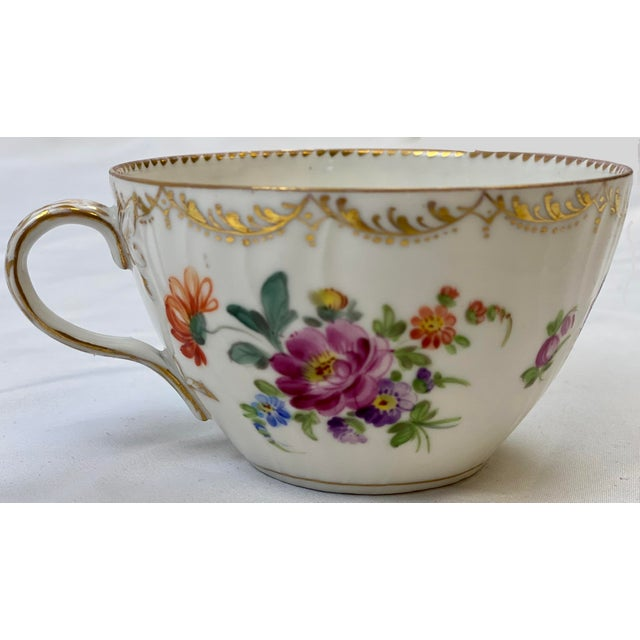 Late 19th Century Antique 19th Century Richard Klemm Dresden Porcelain Demitasse Cup & Saucer For Sale - Image 5 of 10