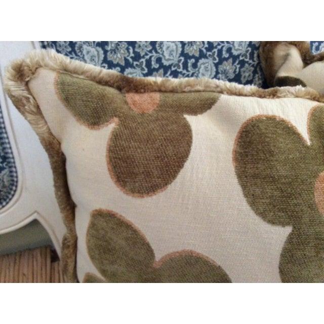 Textile 1980s Vintage Borgata Crazy Flower Pillows - a Pair For Sale - Image 7 of 11