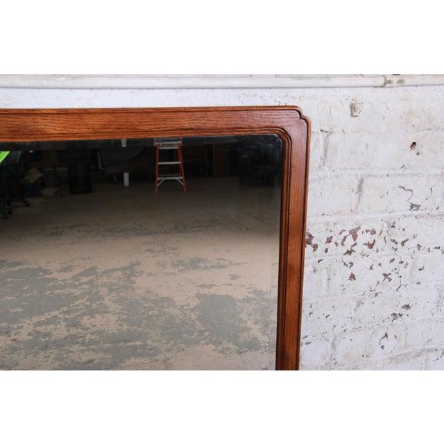 Henredon Oak Beveled Mirror For Sale In South Bend - Image 6 of 9