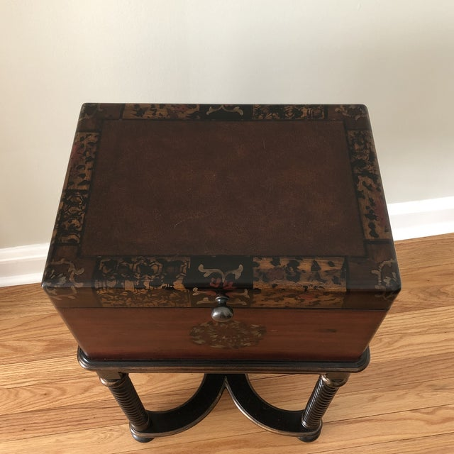 2010s Traditional Hooker Furniture Living Room Dynasty Box on Stand For Sale - Image 5 of 13