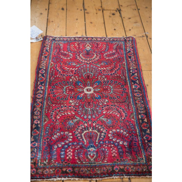 "Islamic Vintage Sarouk Rug Mat - 2'1"" x 4' For Sale - Image 3 of 10"