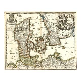 Christoph Weigel, Map of Denmark, 1724 For Sale