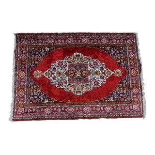 1950s Vintage Handwoven Turkish Anatolian Rug - 5′6″ × 3′9″ For Sale