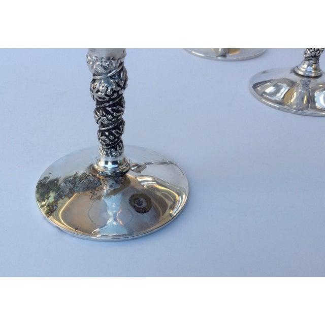 "Vintage Silver Plate Spanish ""Valerio"" Drinks Server Ware- Set of 12 For Sale - Image 9 of 11"