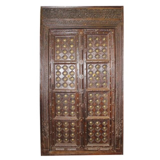 Antique Indian Solid Wooden Haveli Door For Sale