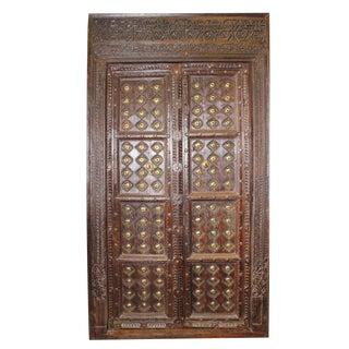 Antique Indian Solid Wooden Haveli Door For Sale