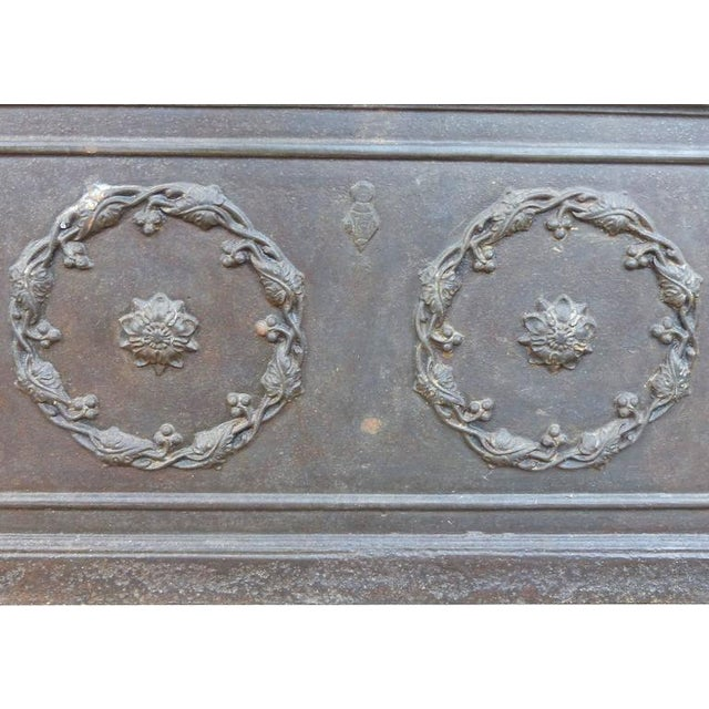 Mid 19th Century 19th Century Antique Decorative Iron Safe For Sale - Image 5 of 10