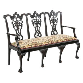 Chippendale Revival Settee For Sale