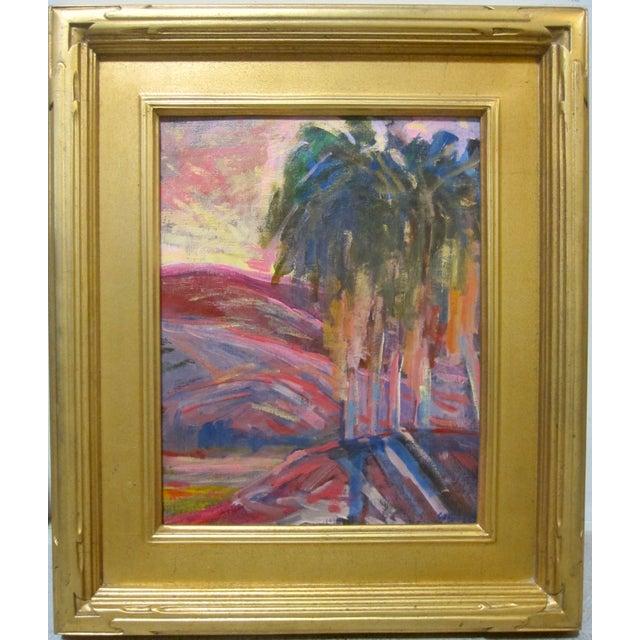 Juan Guzman Rancho Mirage Ca Original Painting Landscape Desert Sunset Palm Tree For Sale In San Diego - Image 6 of 6