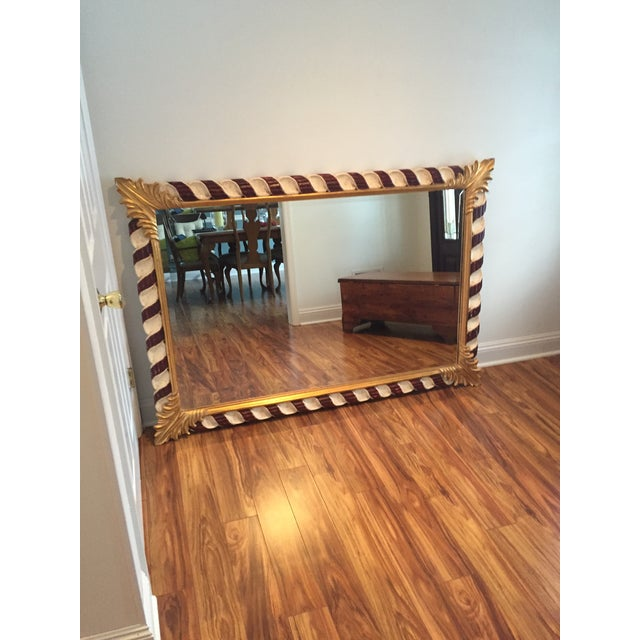 Hand carved and hand painted Harrison and Gil Dauphine mirror. One of a kind, in perfect condition!
