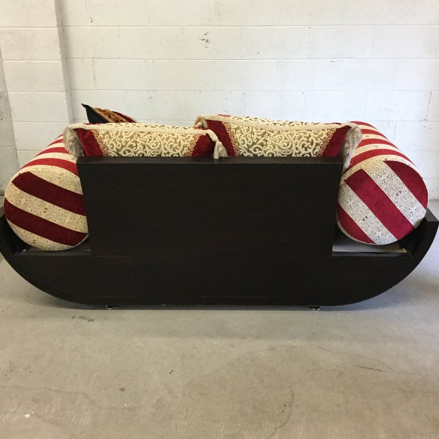 Red Moroccan Style Love Seat For Sale - Image 8 of 9