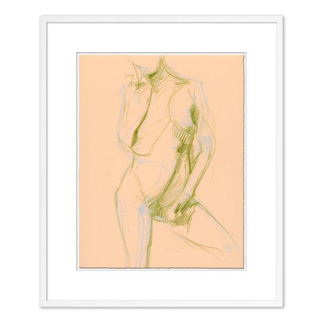 Figurative Figures, Set of 6 by David Orrin Smith in White Frame, Small Art Print For Sale - Image 3 of 10