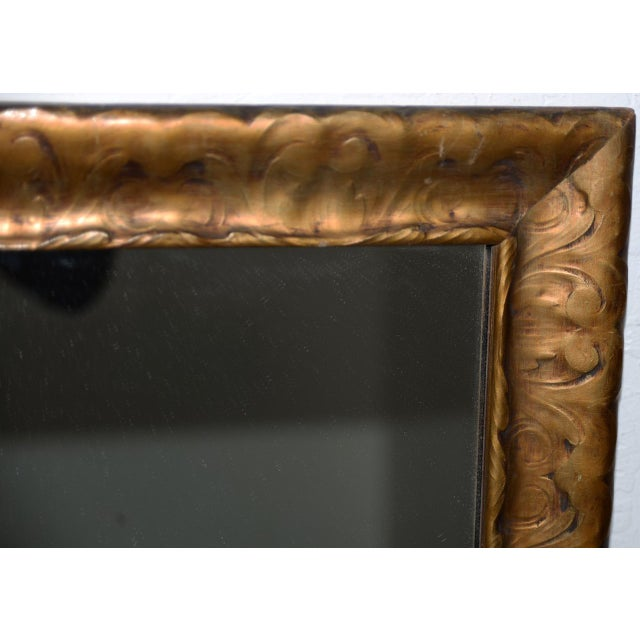 Art Nouveau Carved & Gilded Frame with Mirror c. 1890 to 1910 Fantastic carved and gilded frame with a new mirror added...