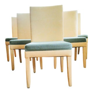 Transitional Parsons Style Dining Chairs - Set of 6 For Sale