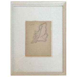 19th Century Schoolboy Maps of England For Sale