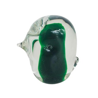 Green Murano Glass Baby Bird For Sale