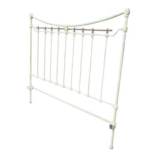 19th Century Shabby Chic Wrought Iron/Copper Bedframe For Sale