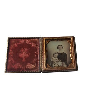 19th Century Antique Ambrotype Old Family Photography For Sale