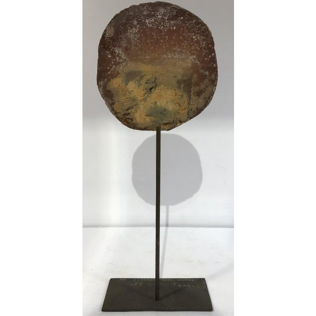 "Edith Edwards modern sculpture, in the form of a circle titled ""Household God I."" This work came from the collection of..."