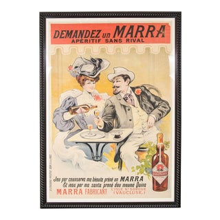 "Gorgeous Belle Époque Poster by Francisco Tamagno ""Demandez Un Marra"" For Sale"