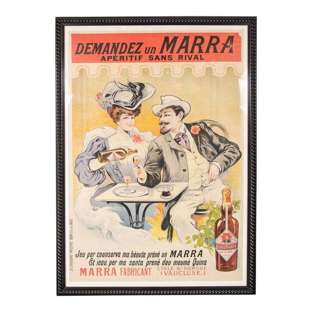 """Gorgeous Belle Époque Poster by Francisco Tamagno """"Demandez Un Marra"""" For Sale"""