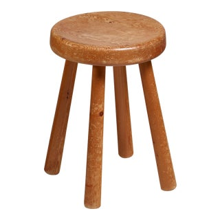 Charlotte Perriand four-legged stool from Les Arcs, France For Sale