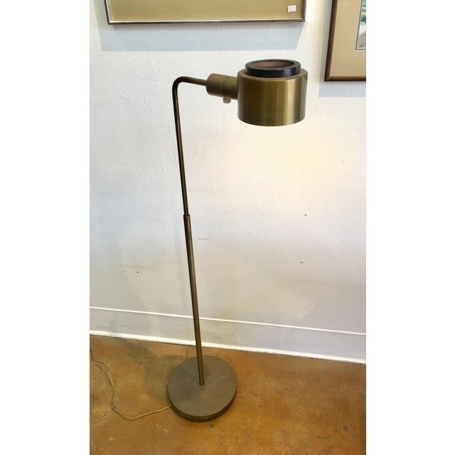 Metal Vintage Casella Brass Reading Floor Lamp Mid Century Modern For Sale - Image 7 of 7