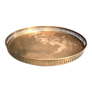 Round Brass Serving Tray For Sale