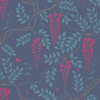 Cole & Son Egerton Classic Botanical Style Wallpaper Sample For Sale