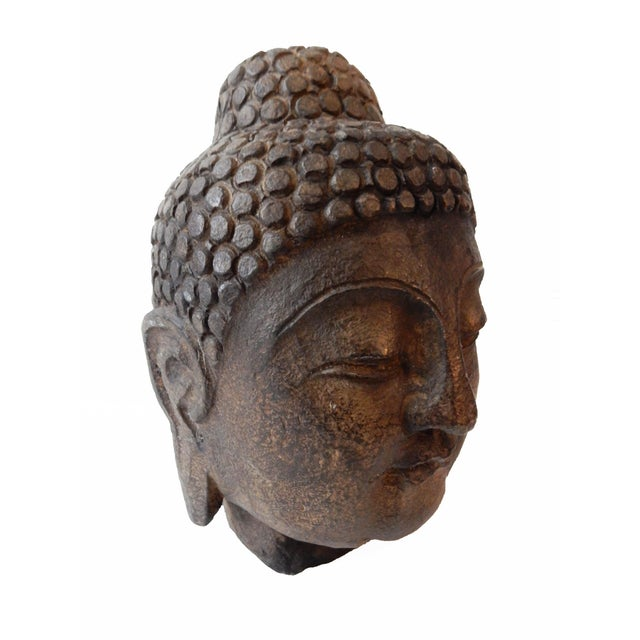 Hand Carved Stone Buddha Head - Image 3 of 5