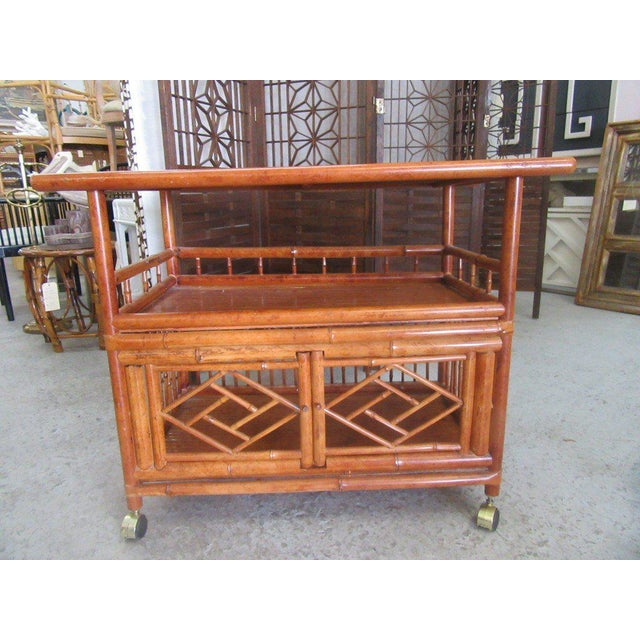 Tortoise Shell Bamboo Cart - Image 7 of 8