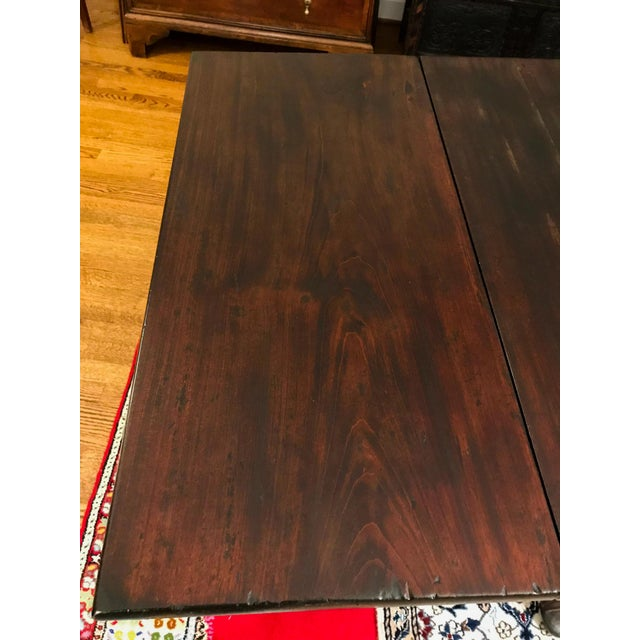 Mid 18th Century Antique Mahogany Drop-Leaf Table For Sale - Image 9 of 13