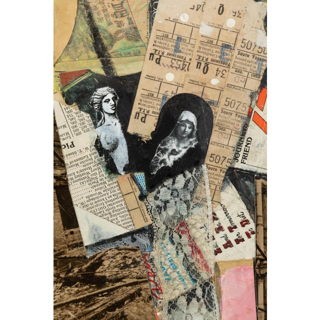 Contemporary English Mixed-Media Collage For Sale - Image 3 of 5